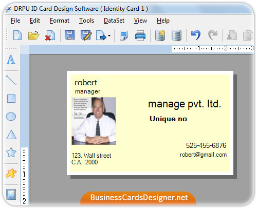 Screenshot of ID Card Designer